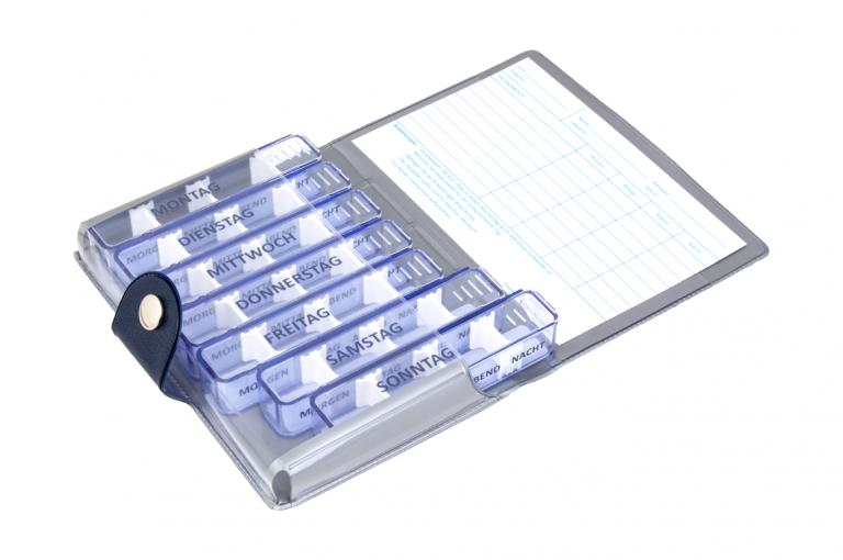 Medidos-DE-No1-Wild-Dark-Blue-Open-pill-dispenser-Kibodan-danish-design