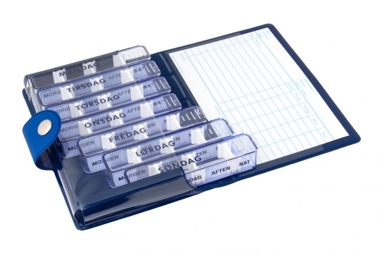 Medidos-DK-No1-Soft-Touch-Blue-DarkBlue-Open-pill-dispenser-Kibodan-danish-design-A-X1