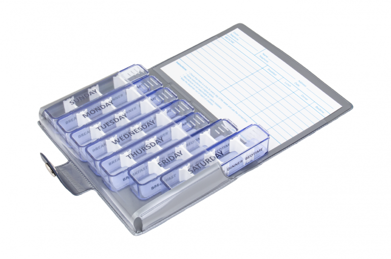 Medidose-GB-No1-Wild-Dark-Blue-Open-pill-dispenser-Kibodan-danish-design