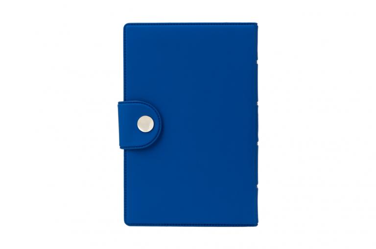 Medidose-XX-No1-Soft-Touch-Blue-DarkBlue-Closed-pill-dispenser-Kibodan-danish-design