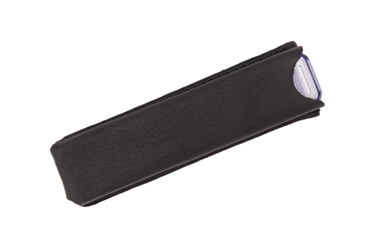 Medidos-XX-Sleeve-Leatherette-Black-Closed-pill-dispenser-Kibodan-danish-design