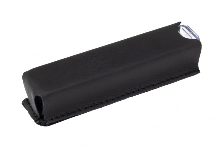 Medidos-XX-Sleeve-Leatherette-Black-Perspective-pill-dispenser-Kibodan-danish-design-A-X1