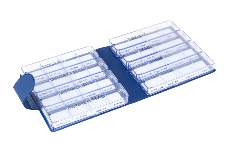 Medimax-DE-No1-Classic-Saphire-Open-pill-dispenser-Kibodan-danish-design-V0