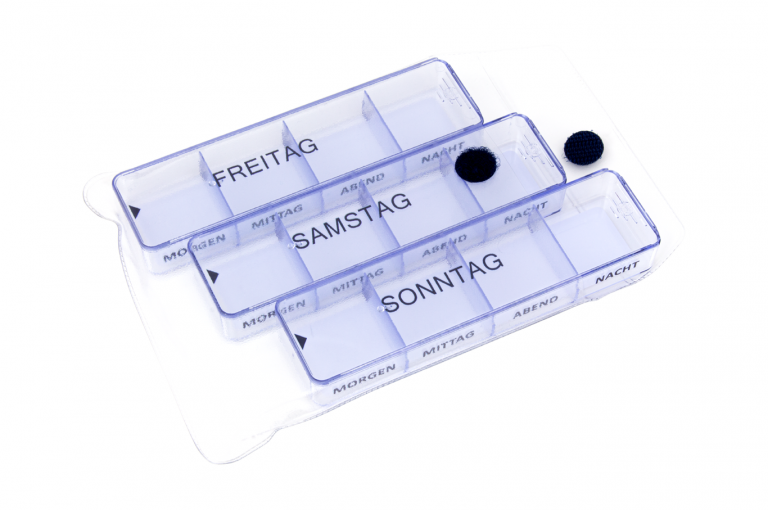 Medimax-DE-No6-Clear-Open-pill-dispenser-Kibodan-danish-design