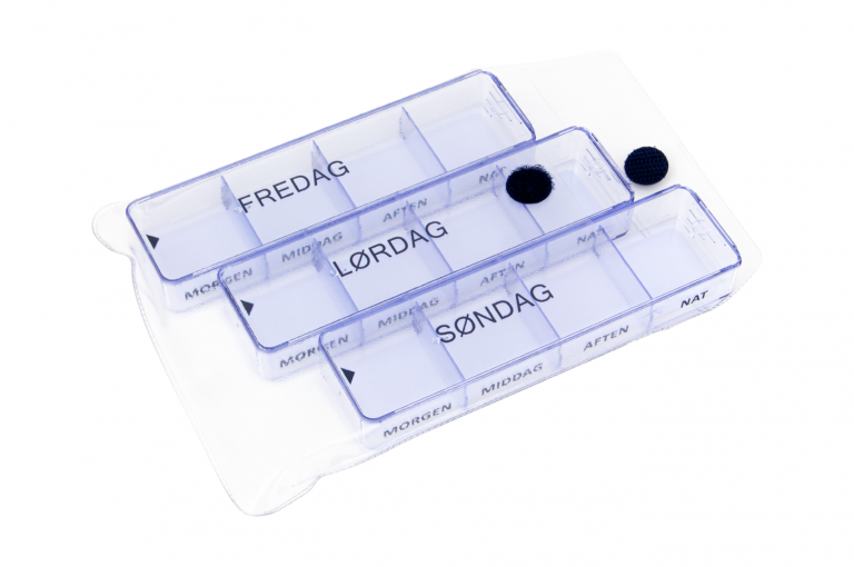 Medimax-DK-No6-Clear-Open-pill-dispenser-Kibodan-danish-design