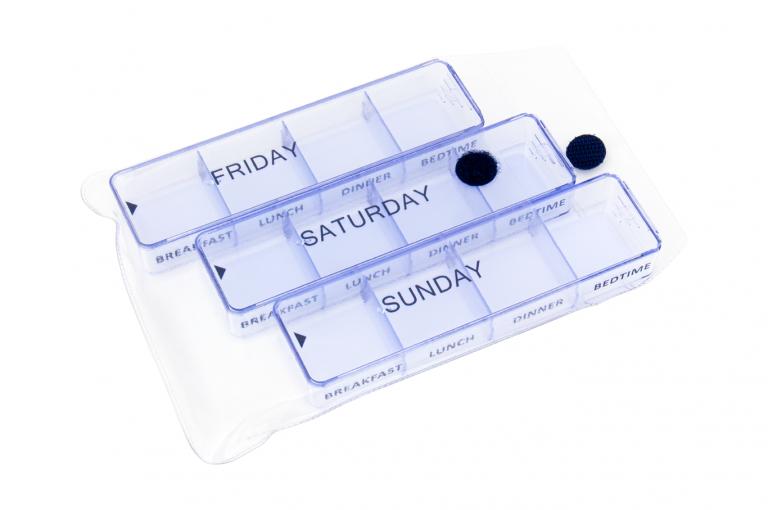 Medimax-GB-No6-Clear-Open-pill-dispenser-Kibodan-danish-design