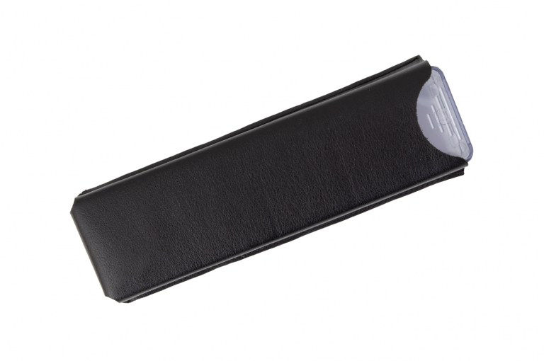 Medimax-XX-Sleeve-Leatherette-Black-Perspective-pill-dispenser-Kibodan-danish-design-B-X1