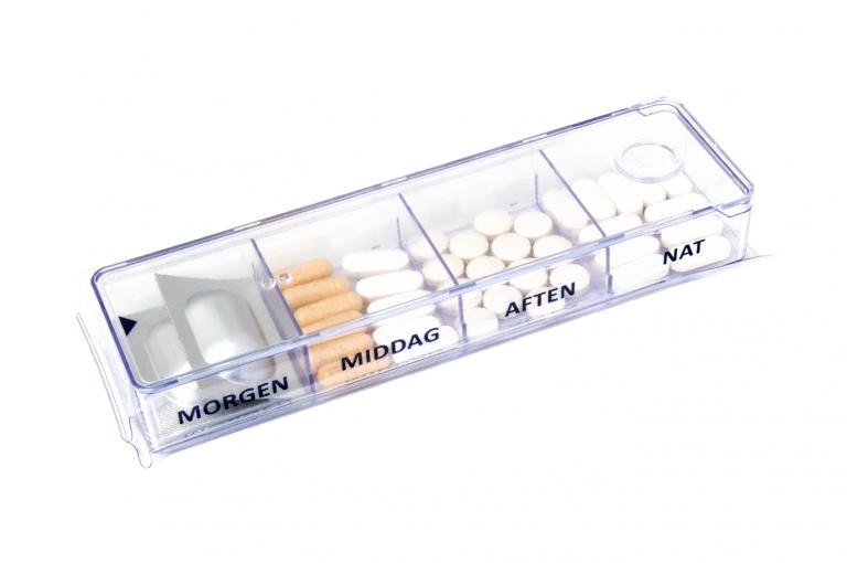 Megamax-DK-No3U-Sleeve-Clear-pill-dispenser-Kibodan-danish-design-B-X1