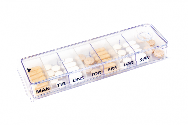Megamax-DK-No4U-Sleeve-Clear-pill-dispenser-Kibodan-danish-design-B-X1