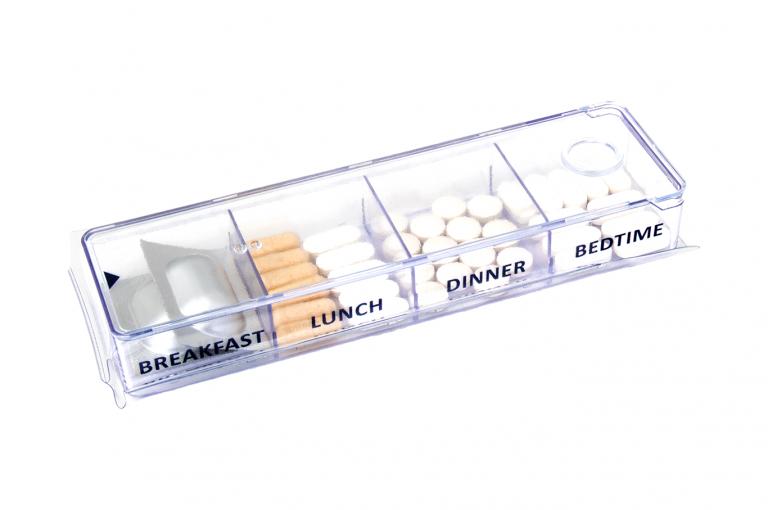 Megamax-GB-No3U-Sleeve-Clear-pill-dispenser-Kibodan-danish-design-B-X1